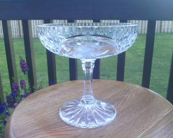 Very Pretty Pedestal Stem Compote Fruit, Candy and Nut Dish.