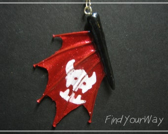 How To Train Your Dragon Toothless' Tail Fin Charm Pendant Necklace