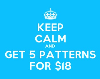 Sweet Sale - Score Any Five Crochet Patterns for Only 18 Dollars
