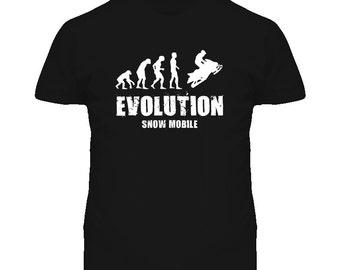 Evolution Snow Mobile T Shirt