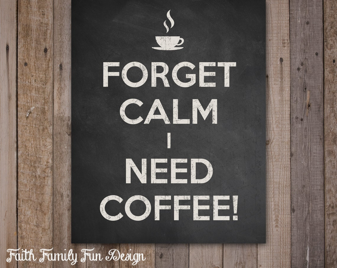Coffee Sign. Coffee Decor. Funny Coffee Saying. Kitchen Wall