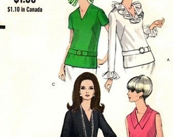 Vogue 7403 Fashion Icon Overblouse in Four Versions / ca. 1968 / SZ8 UNCUT
