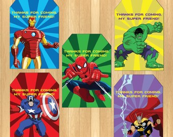 INSTANT DOWNLOAD - The Avengers Thank You Tag