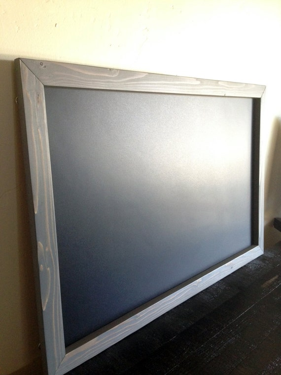 large framed magnetic chalkboard 20x30 rustic by krohndesigns. Black Bedroom Furniture Sets. Home Design Ideas