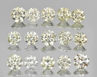 1.60 Cts/15 Pcs Lot - 2.9-3.1mm Rounds Untreated Light Champagne Diamonds