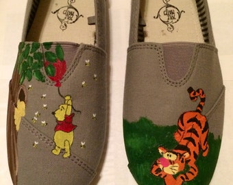 Winnie the Pooh TOMS and off brand shoes