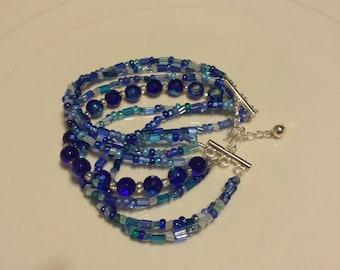 Multi blue bracelet