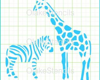 Giraffe and zibra stencil OLA001.