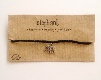 Black Plaited Elephant Anklet | Happiness | Longevity | Good Luck |