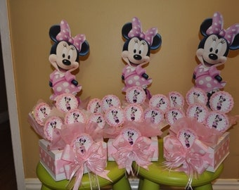 Minnie Mouse Centerpiece with Lollypops, Birthday party centerpiece
