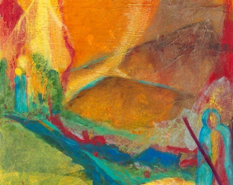 Burning Bush. Abstract Christian Art PRINT