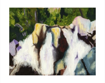 Fine Art Print, Giclee, Impressionistic Painting, purple, blue . green**SHIPS FREE**