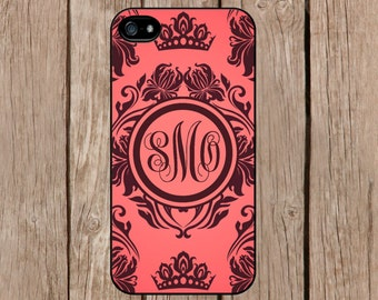 iPhone 6 case, iPhone 6 plus case, iPhone 5c case, iPhone 5s case Samsung Galaxy S5 S4 Personalized Monogram Romance Floral Light Pink M239