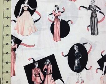 Glamour Girls fabric -  Robert Kaufman  - 1 yard
