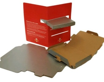 35 C5 Silver PIP Postal Boxes - Large Letter Mailer 'Fold in' Style
