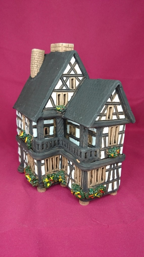 Handmade Ceramic Lithuanian Candle House By Uniquecandlehouse