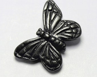 Black Pewter Monarch Butterfly Bead, 16x11mm, Set of 2 with Gunmetal Finish, Made in USA, #TC126
