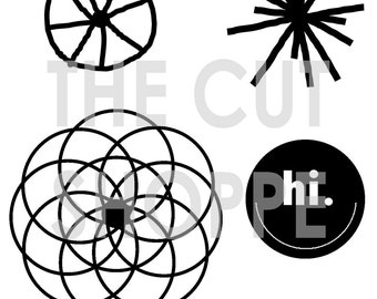 The Going In Circles Cut File, is a set of 4 PNG & SVG images, that can be used to create unique looks for your paper projects.