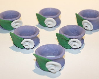 Polymer Clay Flower Napkin Rings