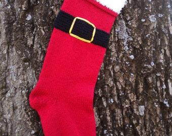 Santa's Favorite Stocking Knitting Pattern