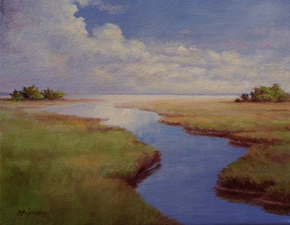 South Carolina Marsh Landscape Painting