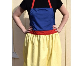 PRICES REDUCED! ~ Snow White Dress Up Adult Apron ~  Princess Costume Apron for adults