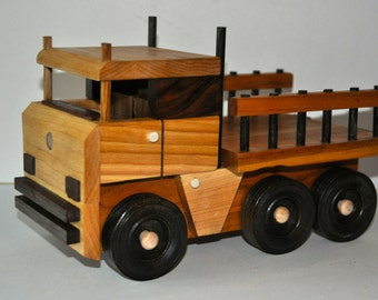 Handcrafted Hardwood Toy Mercedes Truck