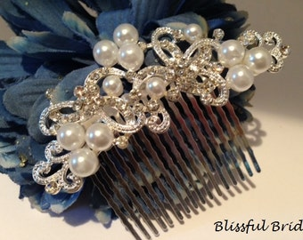 Pearl Wedding Comb, Bridal Hair Comb, Crystal Pearl Comb, Wedding Hair Comb, Pearl Comb for Bride