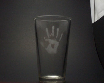 Skyrim-Inspired Dark Brotherhood We Know Etched Pint Glass