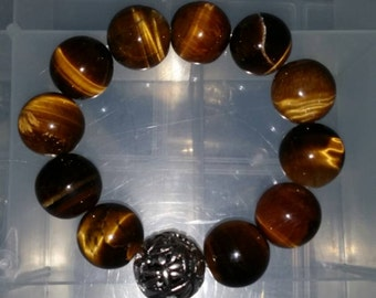 Large Tiger Eye Quartz Bracelet