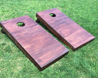 Wood Stained Corn Hole Boards