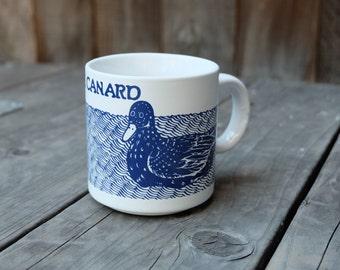 Taylor & Ng Le Canard Mug, Blue Vintage French Series 1979