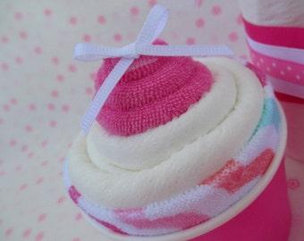 Baby Washcloth, Baby Washcloth Shower Gift, New Baby Gift, Baby Shower Cupcake Gift, Baby Shower Decorations