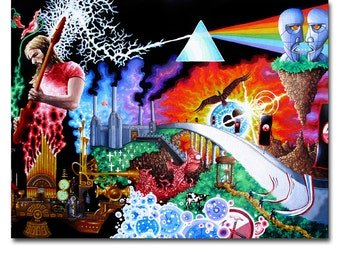 Art Canvas Print Panel Pink Floyd Wall Art Framed home decor painting office decor