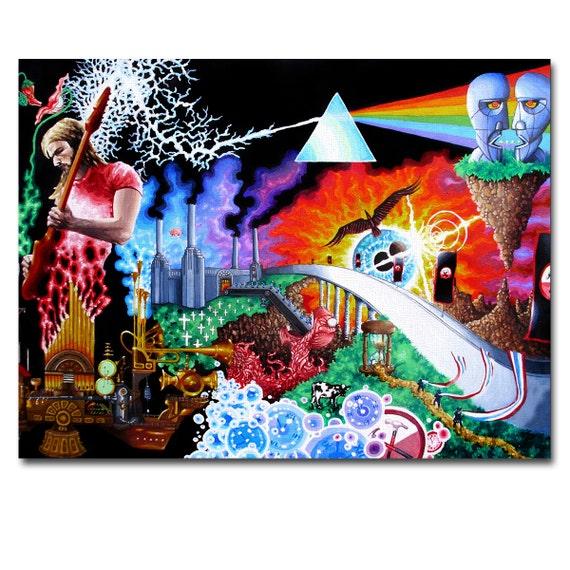 Pink Floyd Wall Art art canvas print panel pink floyd wall art framed home decor