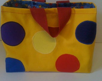 Mr Tumble bag Mr tumble yellow spotty tote bag  playschool bag tote