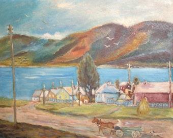 1998 Impressionist Landscape Oil Painting, Signed