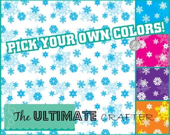 Frozen Snowflake pattern outdoor permanent vinyl Crafters vinyl Great for Frozen Themed decor