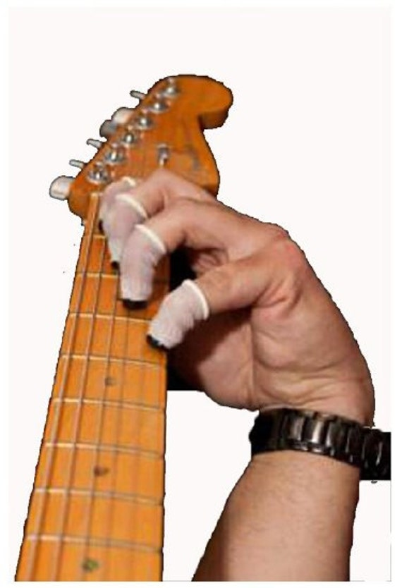 items similar to finger protectors for playing guitar on etsy. Black Bedroom Furniture Sets. Home Design Ideas