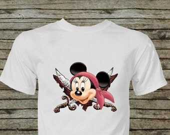 Minnie Mouse Pirate Iron On Transfer Instant Download