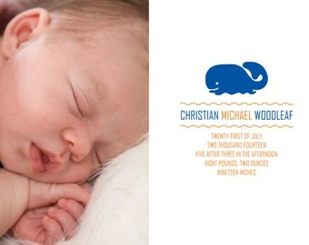 Christian birth announcement (5x7 PRINTABLE)