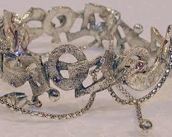 """French Bracelet """"Fanciful"""" Silver Cuff"""