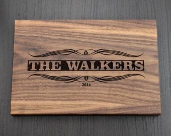 Personalized Cutting Board, Engraved Wooden Chopping Block, Housewarming Gift, Custom Wedding Gift, Anniversary Gift, Hostess Gift, Kitchen