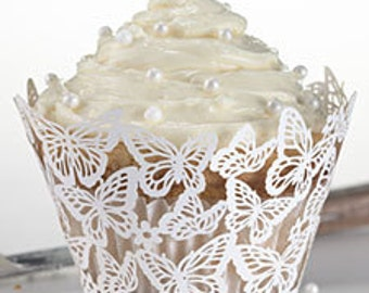 25 cup cake wrappers liner cup cake toppers cup cakes  cup cake birthday wedding favor  cup cake liner