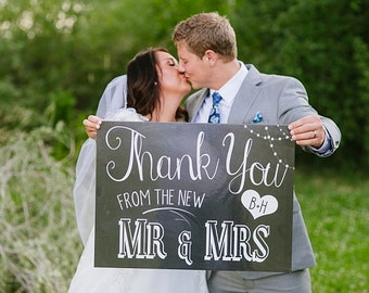 Thank You From The New Mr. & Mrs Sign
