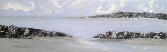 Peinture marine bretagne acrylique sur toile by peinturesjparedes for Peinture acrylique sur toile