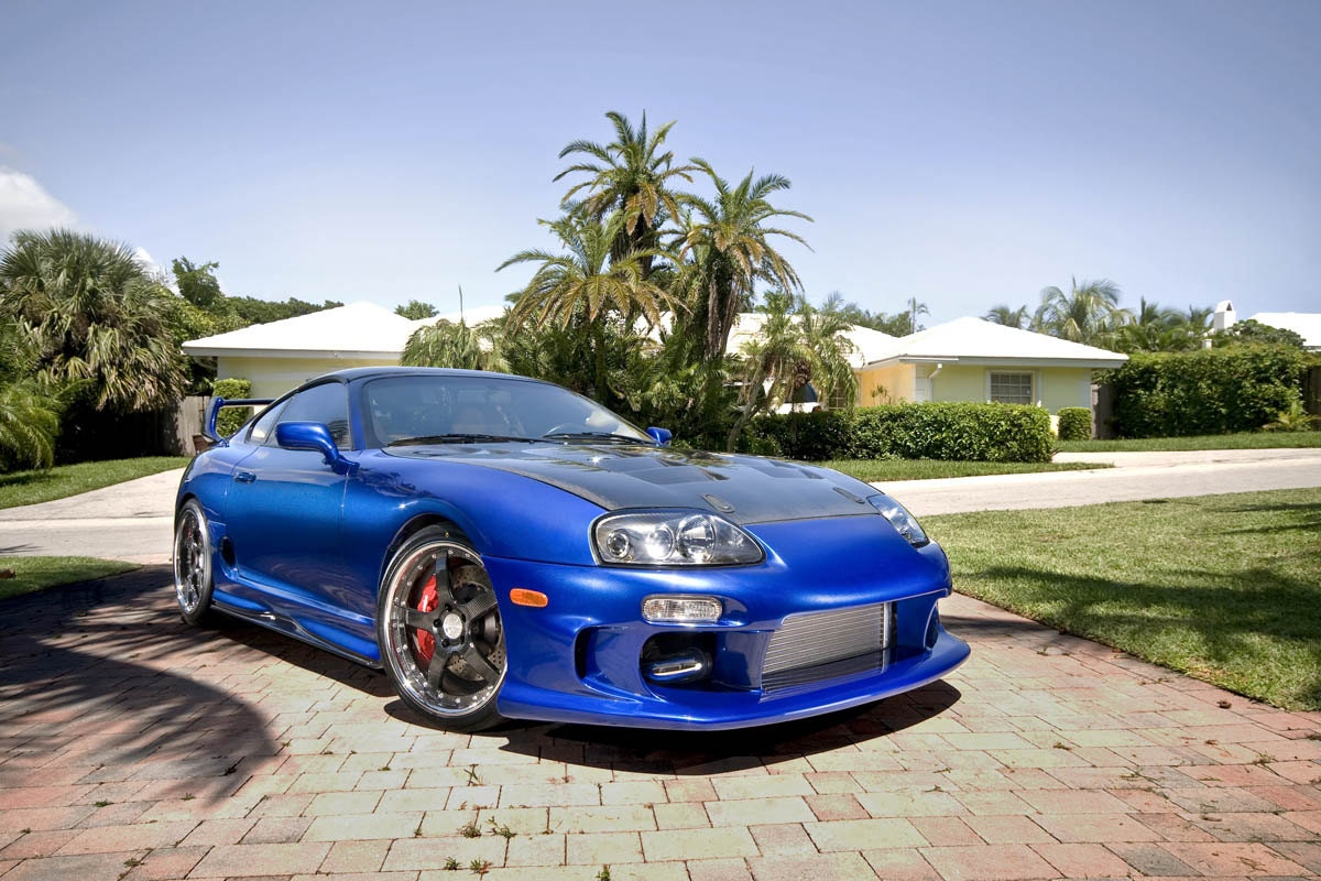 toyota supra single turbo right front blue on 360 forged. Black Bedroom Furniture Sets. Home Design Ideas