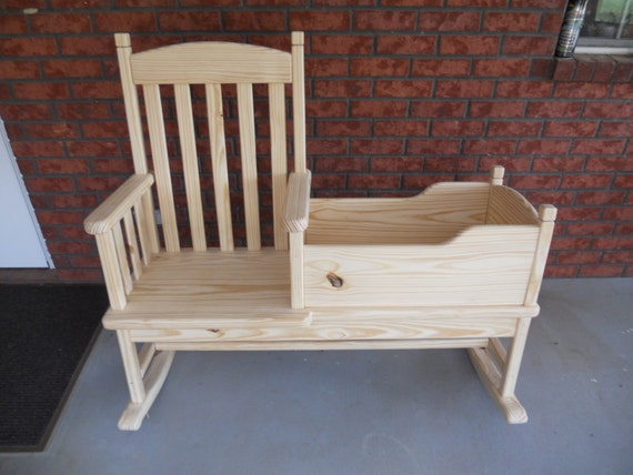 Items Similar To Mom And Me Rocking Chair Cradle Combination On Etsy