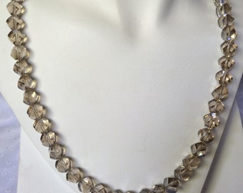 Classic Champagne Beaded Necklace