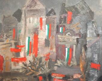 European art expressionist oil painting landscape